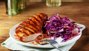 Grill Turkey Tenderloins with Guava Guajillo Chile BBQ Sauce