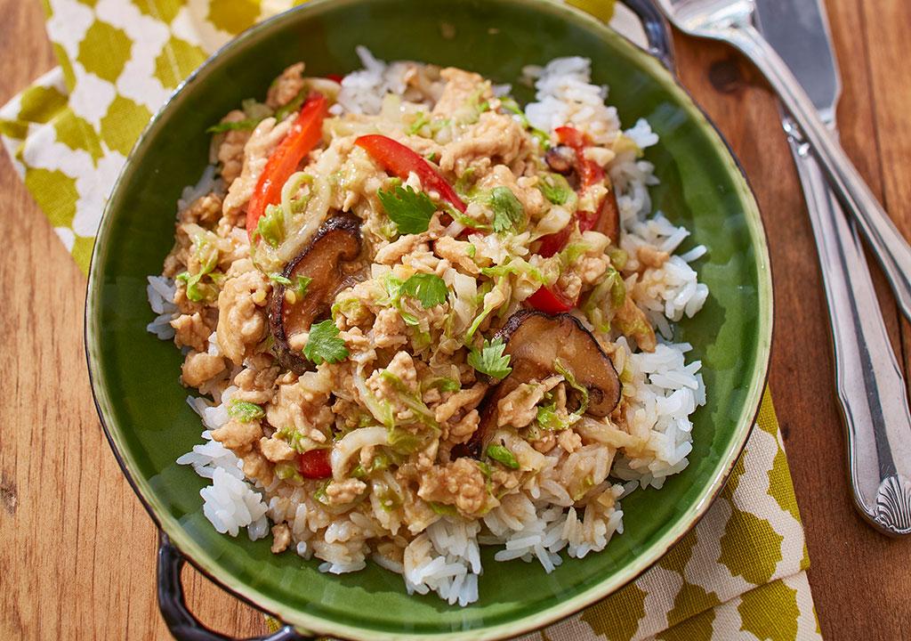 Miso Turkey Cabbage Dinner
