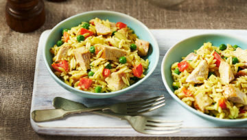 Creamy Orzo and Turkey Supper