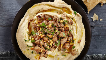 Spiced Turkey with Hummus