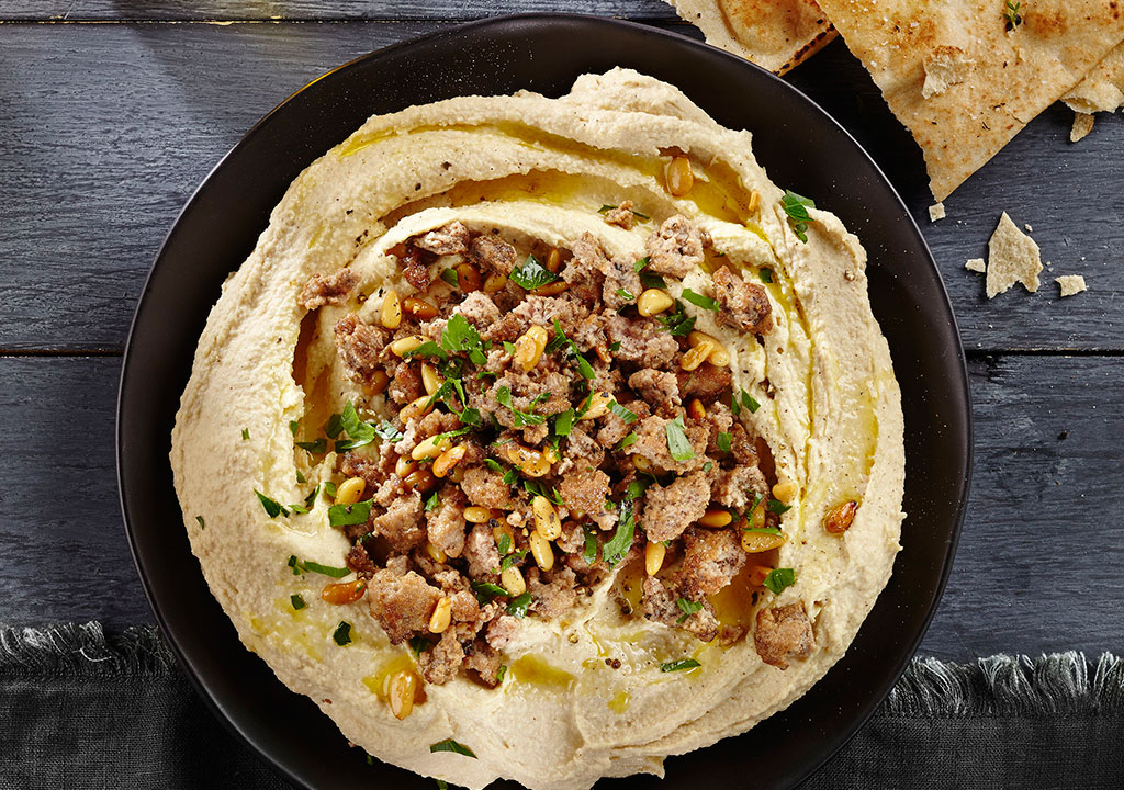 Spiced Turkey with Hummus