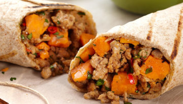 Turkey Sweet Potato Burrito