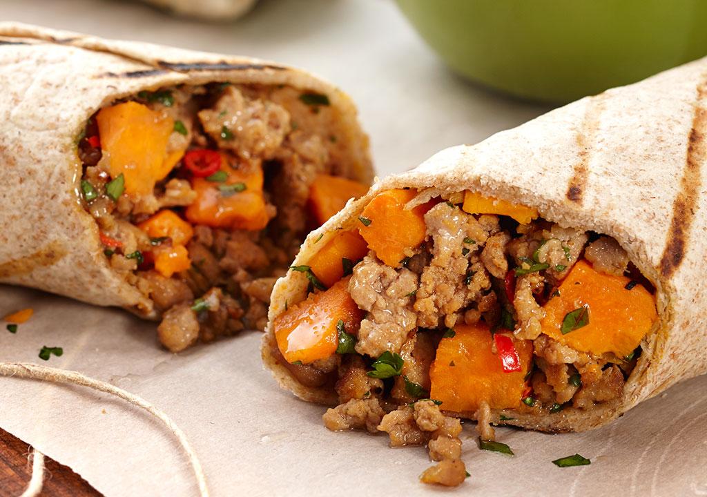 Turkey Sweet Potato Burrito
