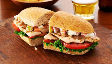 Grilled Scallopini Sandwich with Pickled Vegetables