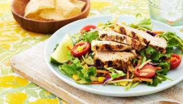 Smoky Citrus Turkey Taco Salad