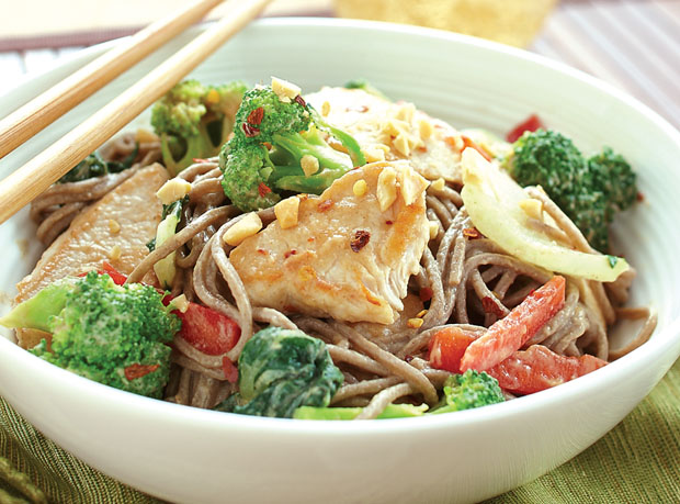 Turkey & Tofu with Soba Noodles