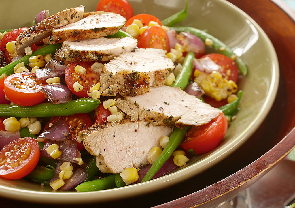 Turkey, Green Bean, Corn & Tomato Salad