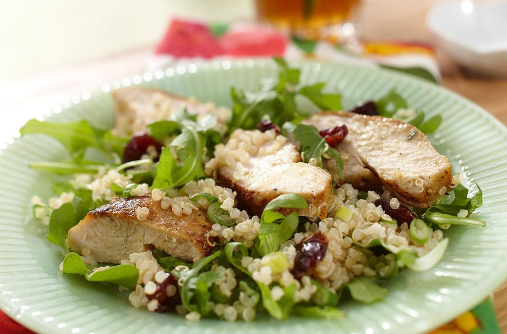 Turkey Quinoa Salad with Cranberries