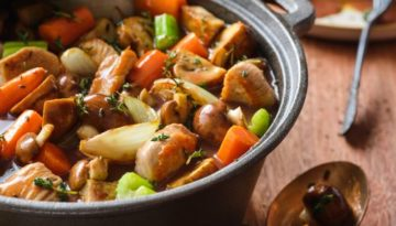 Turkey au Vin