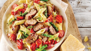 Turkey Sausage & Grilled Vegetable Penne