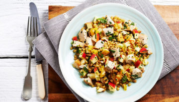 Apple Wheatberry Turkey Salad
