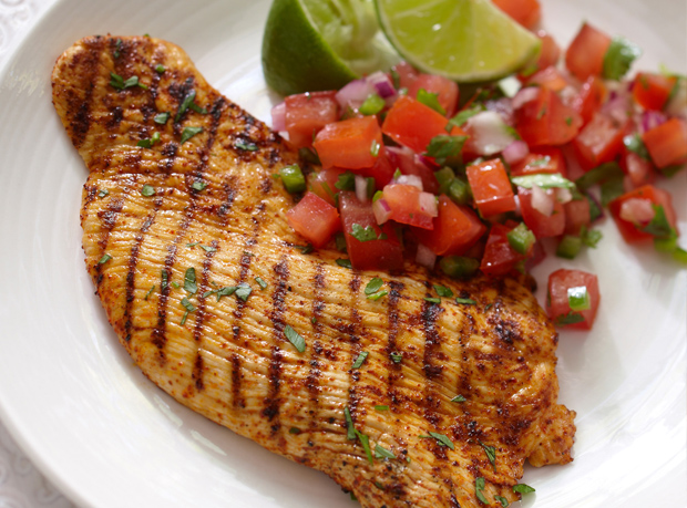 Chili Lime Turkey with Salsa