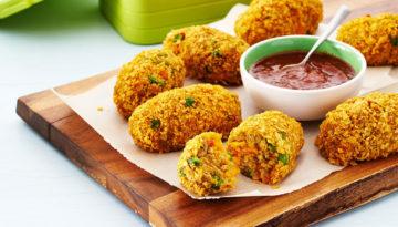 Curried Pea & Turkey Sweet Potato Croquettes