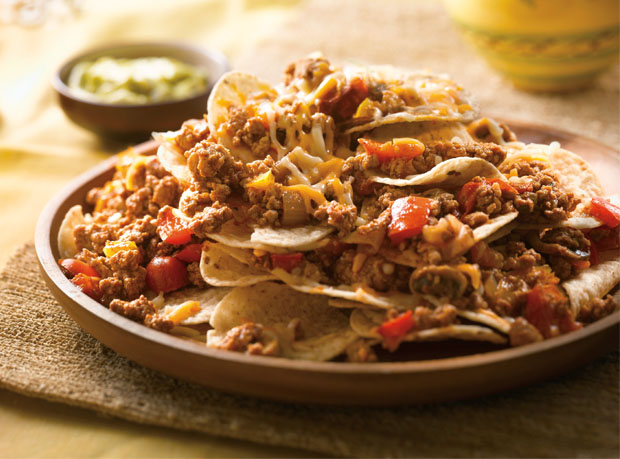 Double Cheese Turkey Nachos Supremos