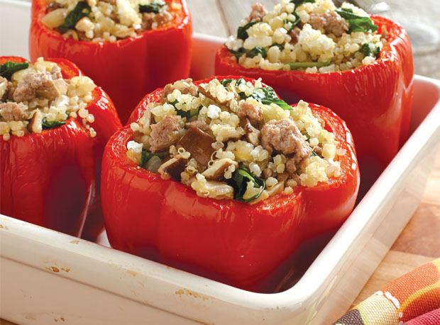 Turkey & Quinoa Stuffed Peppers