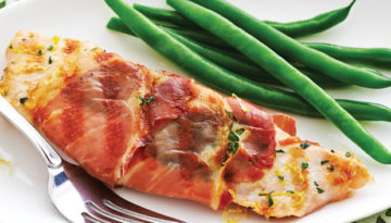 Grilled Turkey Saltimbocca