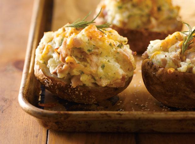 Twice Baked Turkey Cheddar Potatoes