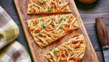 Grilled Thai Turkey Flatbread