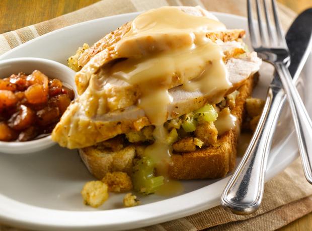Hot Turkey Knife & Fork Sandwich