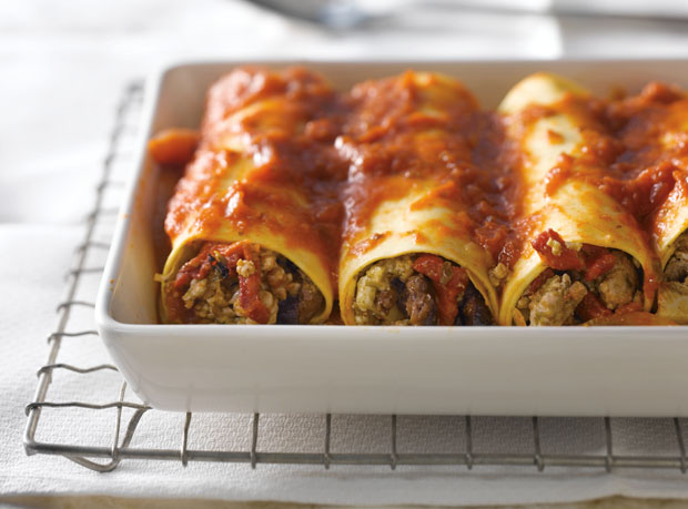 Italian Turkey Stuffed Manicotti