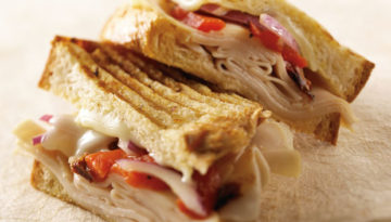 Mediterranean Grilled Turkey Sandwich