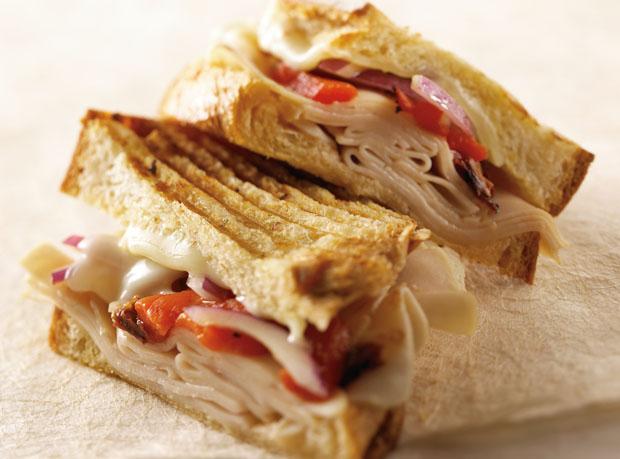 Mediterranean Grilled Turkey Sandwich