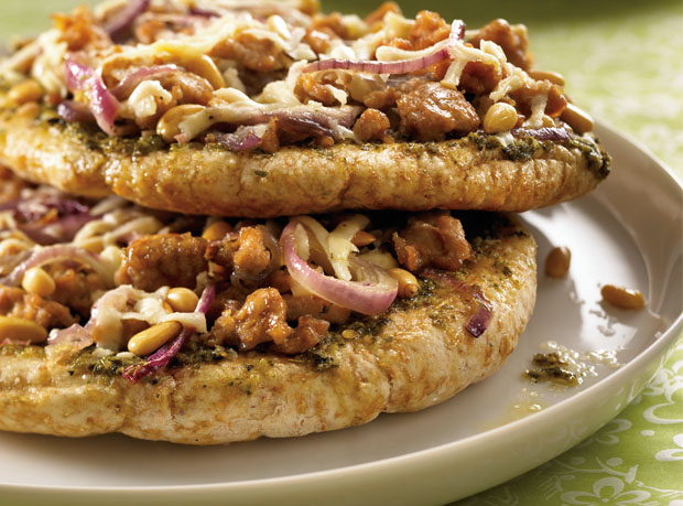 Nutty Pesto & Turkey Personal Pizzas