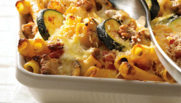 Three Cheese & Turkey Pasta Bake