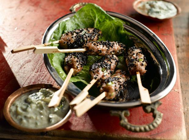 Turkey Kabobs with Mint Raita