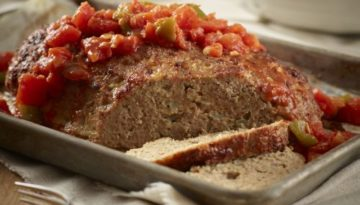 Turkey Loaf with Chunky Tomato Pepper Sauce