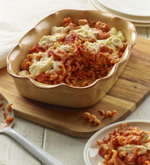 Turkey and Tomato Pasta Bake
