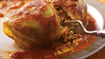 Wild Rice & Turkey Cabbage Rolls