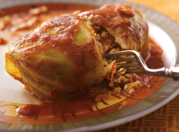 Wild Rice & Turkey Cabbage Rolls