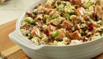 Mushroom, Turkey & Rice Casserole