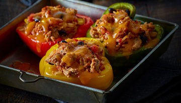Turkey & Rice Stuffed Sweet Pepper