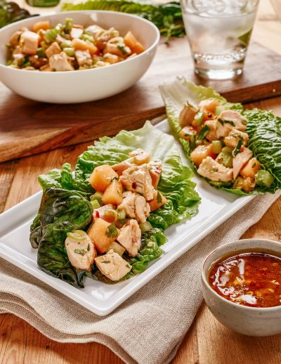 Turkey Salad Lettuce Wraps