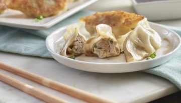 Chinese Style Turkey Dumplings with Dipping Sauce