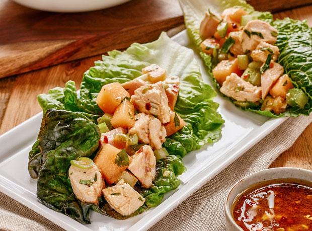 Turkey Salad Lettuce Wraps