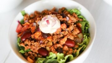 Turkey and Bean Chili Salad
