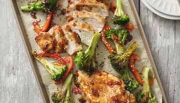 Spicy Sheetpan Turkey and Broccoli