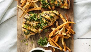 "Turkey ""Steaks"" with Chimichurri Salsa Verde"