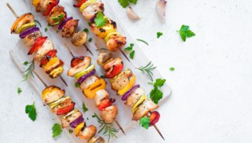 Grilled Lime and Oregano Turkey Skewers